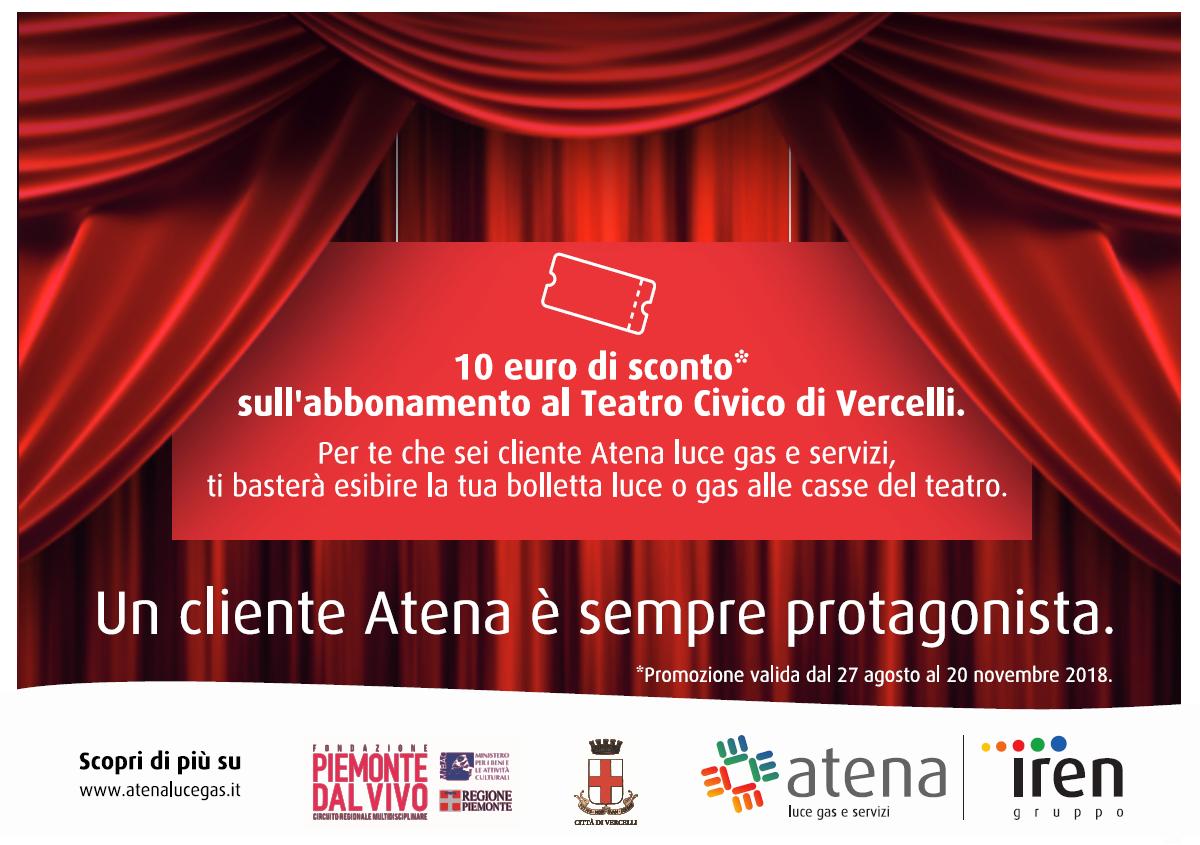 Abbonati al Teatro Civico di Vercelli: con Atena ti costa meno